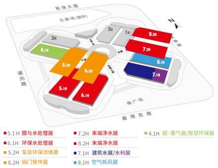 展会平面图-上海空气新风展 AIRVENTEC CHINA 2021.6.2-4 新风系统 通风设备 空气净化