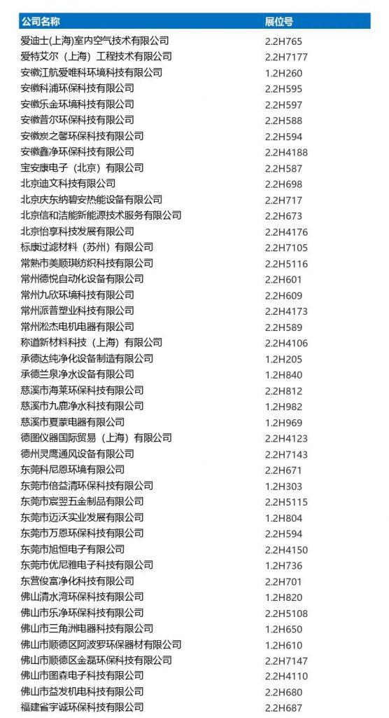 2020上海国际空气新风展开展在即,展商名录抢先看!-上海空气新风展 AIRVENTEC CHINA 2022.6.8-10新风系统 通风设备 空气净化